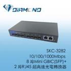 SKC-3282 10/100/1000Mbps  8 埠Mini GBIC(SFP)+ 2 埠RJ45 超高速光電轉換器