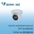 DH-IPC-HDW3541TMN-AS 大華5MP 紅外線球型 WizSense 網路攝影機