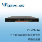 PS-22444W 二十四口超高速智慧網管型網路交換器