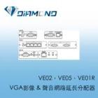VE02,VE05,VE01R VGA影像 & 聲音網路延長分配器