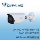 DH-IPC-HFW3541EN-AS 大華5MP 紅外線子彈型 WizSense 網路攝影機