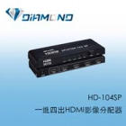 HD-104SP 一進四出HDMI影像分配器