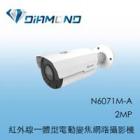 N6071M-A 3S 2MP 紅外線一體型電動變焦網路攝影機