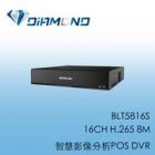 BLT5816S BENELINK 16CH H.265 8M 智慧影像分析POS DVR