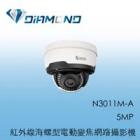 N3011M-A 3S 5MP 紅外線海螺型電動變焦網路攝影機