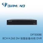 DFT5008E BENELINK 8CH H.265 2M 智慧影像分析 DVR