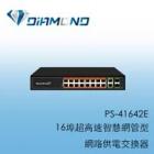 PS-41642E 16埠網管型網路供電交換器