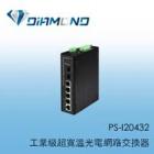 PS-I20432  四埠工業級寬溫網路交換器
