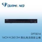 DFT5016 BENELINK 16CH H.265 2M 類比⾼清錄影主機