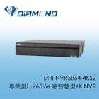 DHI-NVR5864-4KS2 專業型H.265 64 路智慧型4K NVR