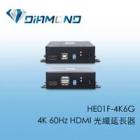 HE01F-4K6G  4K 60Hz HDMI 光纖延長器